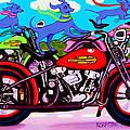 Blue Dogs On Motorcycles - Dawgs On Hawgs by Rebecca Korpita