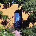Blue Door At Old Mesilla by Kurt Van Wagner