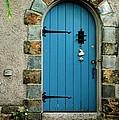 Blue Door In Baltimore by Linda Covino