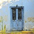 Blue Door In Shade by Matt Rice