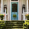 Blue Door  Ivy Stairs by Rich Franco