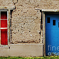 Blue Door on Adobe