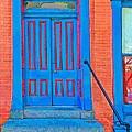 Blue Door On Red Brick by Terry DeHart