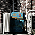 Blue Dumpster by Paulette B Wright