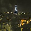 Blue Eiffel At Night by John Jack