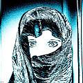 Blue Eye Lady by Linda Sannuti