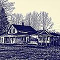 Blue Farmhouse by Jim Lepard