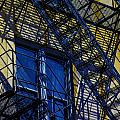Blue Fire Escape by Raymond Kunst