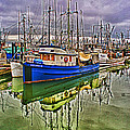 Blue Fishing Boat Hdr by Randy Harris