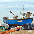 Blue Fishing Boat by Julia Gavin