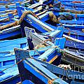 Blue Fishing Boats by Deborah Benbrook