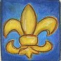 Blue Fleur De Lis by Katie Sasser