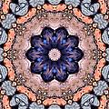 Blue Flora Mandala by Kristin Elmquist