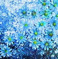 Blue Floral Fantasy by Karin  Dawn Kelshall- Best