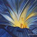 Blue Flower Center by Patty Vicknair