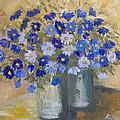 Blue Flowers by Maria Karalyos
