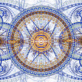 Blue Fractal Inception  by Martin Capek
