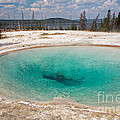 Blue Funnel Spring In West Thumb Geyser Basin by Fred Stearns
