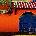 Blue Gate In Santa Fe by Susanne Van Hulst