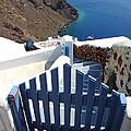 Blue Gate Oia Santorini Greek Islands by Carole-Anne Fooks