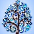 Blue Glass Ornaments by Anastasiya Malakhova