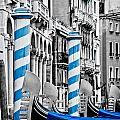 Blue Gondolas by Delphimages Photo Creations