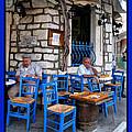 Blue Greek Taverna by Daliana Pacuraru