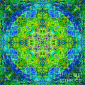 Blue Green Mandala by Susan Bloom
