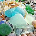 Blue Green Sea Glass Beach Coastal Seaglass by Baslee Troutman