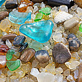 Blue Green Seaglass Coastal Beach Baslee Troutman by Baslee Troutman