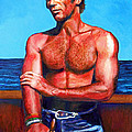Blue Grotto Boatman by Michael Durst