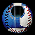 Blue Guitar Baseball Square by Andee Design