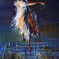 Blue Heron by Priti Lathia