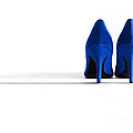 Blue High Heel Shoes by Natalie Kinnear