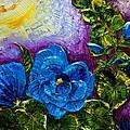 Blue Hollyhocks by Paris Wyatt Llanso