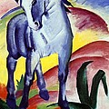 Blue Horse by Franz Marc