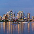 Blue Hour At False Creek Vancouver Bc Canada by Jit Lim