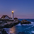 Blue Hour At Portland Head Lighthouse by Scott Thorp