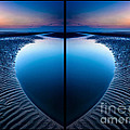Blue Hour Diptych by Adrian Evans