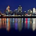 Blue Hour In Cincinnati by Frozen in Time Fine Art Photography