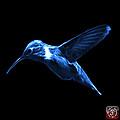 Blue Hummingbird - 2054 F by James Ahn