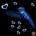 Blue Hummingbird - 2055 F M by James Ahn