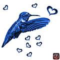 Blue Hummingbird - 2055 F S M by James Ahn