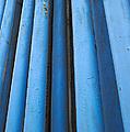 Blue Industrial Pipes by Grigorios Moraitis