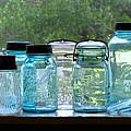 Blue Jars by Randi Kuhne
