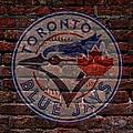 Blue Jays Baseball Graffiti On Brick  by Movie Poster Prints