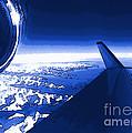 Blue Jet Pop Art Plane by R Muirhead Art