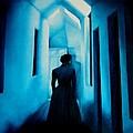Blue Lady In The Hall by Ivan Rijhoff