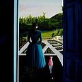 Blue Lady Thru The Door by Ivan Rijhoff
