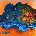 Blue Leaf Ceramic Design 3 by Joan-Violet Stretch
